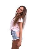 Cheerful cute girl - 176108024