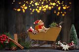 Weihnachtskutsche Deko - 176109849