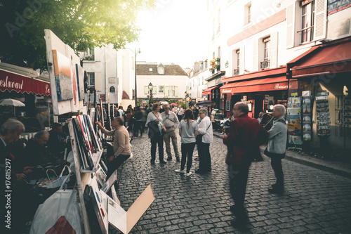 Crowd at Place du Tertre - Paris