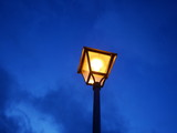 Old street lamp in the evening - 176118277
