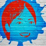 Street art, visage d'une femme - 176125601