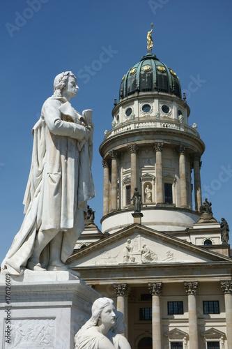 Staande foto Berlijn französischer Dom, am Gendarmenmarkt, Berlin,