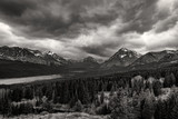Storms roll over the mountains in Glacier National Park, Montana - 176126276