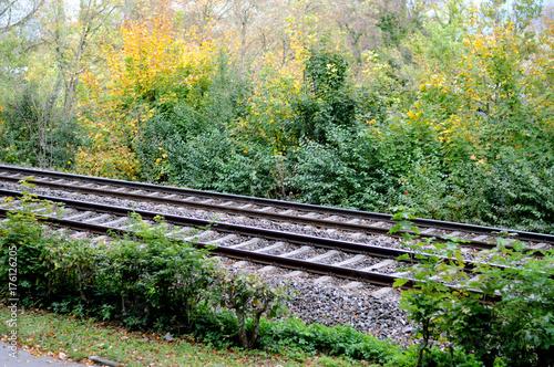 Papiers peints Voies ferrées Eisenbahngleise