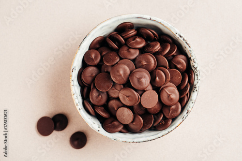 Chocolate drops for baking