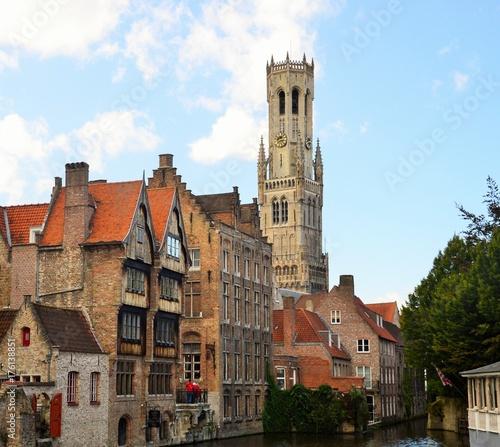 Deurstickers Brugge Stadt Brügge, Belfried