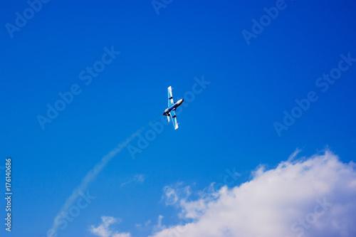 aircraft during flight aviation Poster