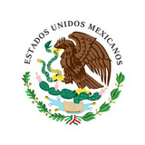 The vector illustration of colored coat of arms of Mexico. - 176140889