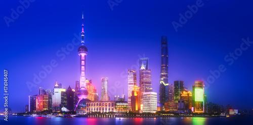 Shanghai skyline cityscape Poster