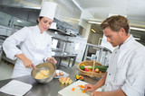 restaurant chef and sous chef - 176147083