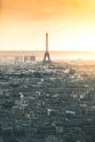 Sunset around Tour Eiffel and the City - Paris - 176149042