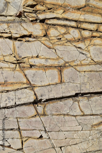 Tuinposter Stenen rock pattern superficie