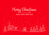 christmas card template - 176150806