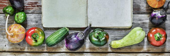 Frame of food. Autumn seasonal products