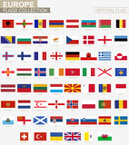 National flag of European countries, official vector flags collection. - 176158666