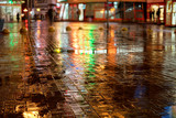 Rainy night in the city - 176164460