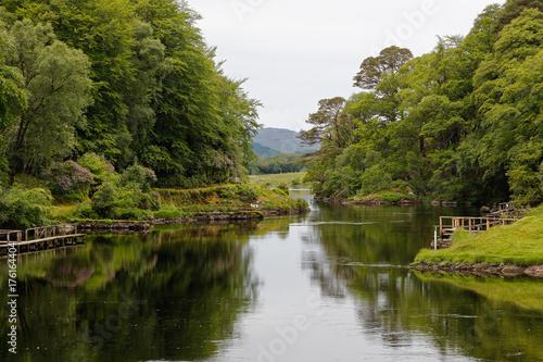 Aluminium Pier Tree Reflections on the Lake