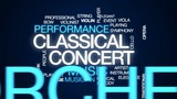 Classical concert animated word cloud, text design animation. - 176167010