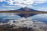 Parinacota volcano and Chungara lake, Lauca National Park, Chile - 176169475