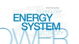 Energy system animated word cloud, text design animation. Kinetic typography. - 176171601