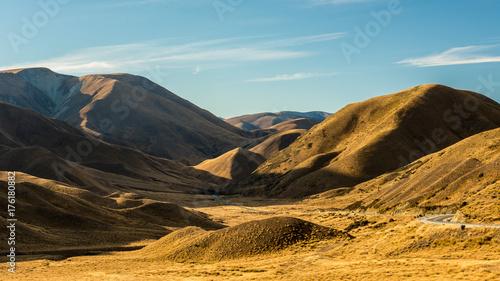 Fotobehang Landschappen Lindis Pass, New Zealand.