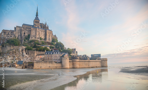Foto op Plexiglas Praag Mont Saint-Michel