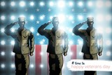 Composite image of logo for veterans day in america hashtag - 176184293