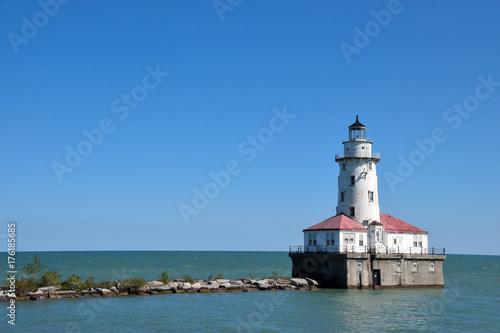 Poster Chicago Leuchttrum, Lake Michigan