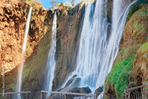 Spoed canvasdoek 2cm dik Marokko Ouzoud Waterfall. Morocco