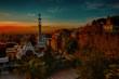 Park Guell Carrer d'olot. Gaudi, Sunrise