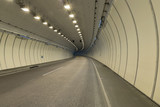 Bend in a road tunnel without traffic - 176199288