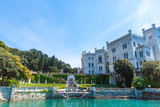 View on Miramare castle in Italy - 176206228
