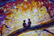 Original oil painting on canvas. Beautiful  landscape - Modern impressionism painting. - 176207047