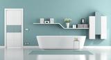 Blue moder bathroom - 176213403