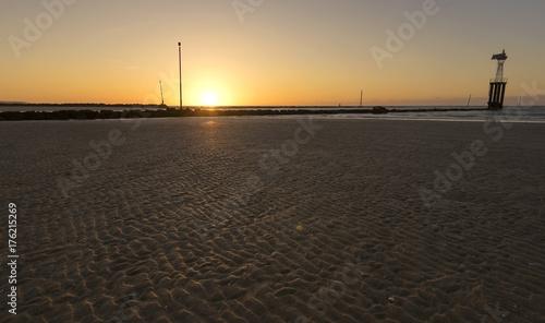 Keuken foto achterwand Zee zonsondergang Beach