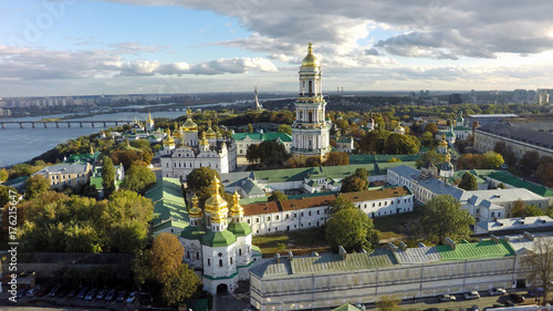 Deurstickers Kiev aerial view of Kiev-Pechersk Lavra at autumn