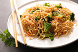 fried noodles with vegetable - 176216825