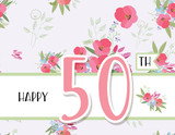 Greeting card for anniversary birthday