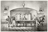 Old illustration of a billiard club. By unidentified author, publ. in New York ca. 1869 - 176219800