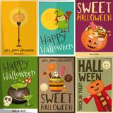 Halloween Posters Set - 176231099