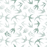 Swallows, seamless pattern for your design - 176232060