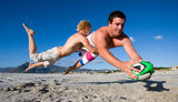 Touch Rugby on the beach - 176232800