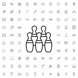 Bowling icon. set of outline entertainment icons. - 176234463