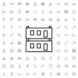 Modular house icon. set of outline construction icons. - 176234805