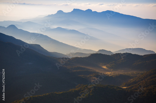 Mountains in a morning fog, Sri Lanka