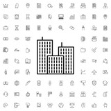 Building icon. set of outline company icons. - 176238228