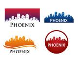 phoenix City Skyline Logo Template