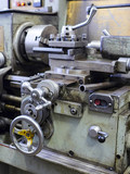 Part of an industrial machine close up - 176244834