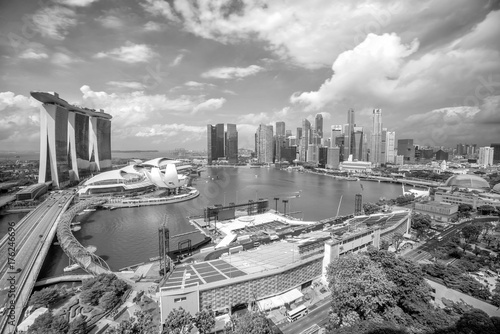 Singapore downtown skyline bay area Poster