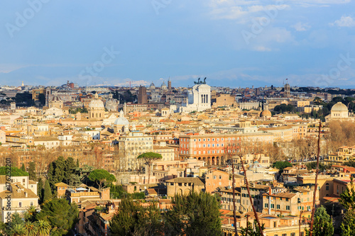 Italy, Rome, view of Rome from the hill Gianiculum. Poster